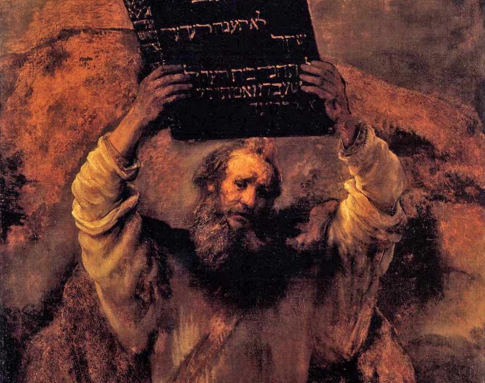 Моисей со скрижалями (фрагмент). Рембрандт, 1659 год