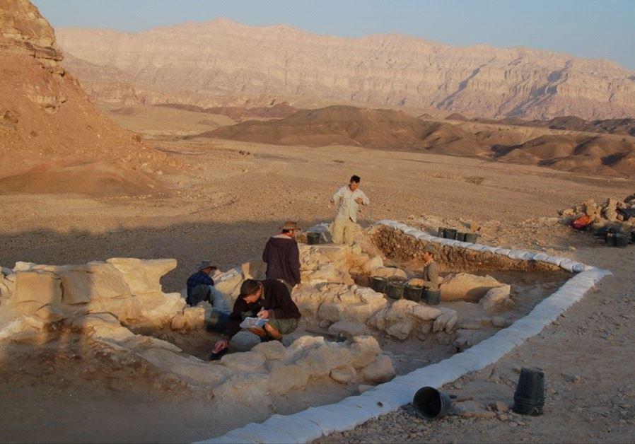 The Timna excavation site.. (photo credit: EREZ BEN-YOSEF/TEL AVIV UNIVERSITY)