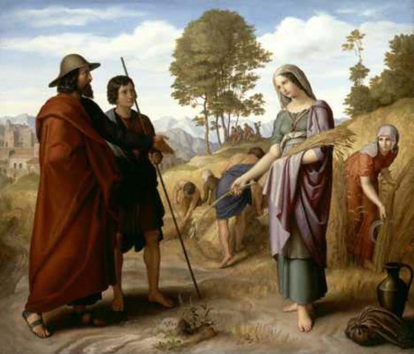 Рут в поле Боаза. Юлиус Шнорр фон Карольсфельд, 1828