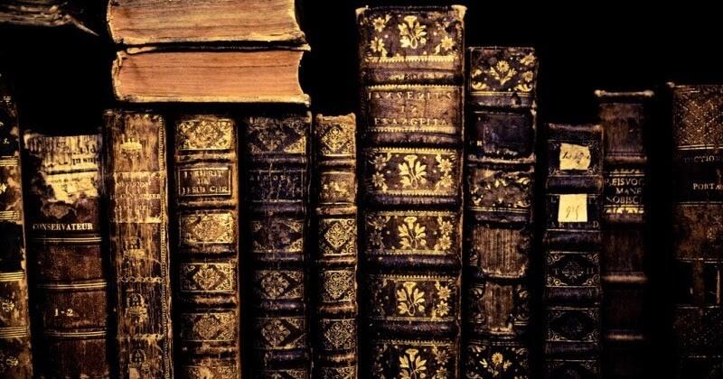 Старые книги, иллюстрация