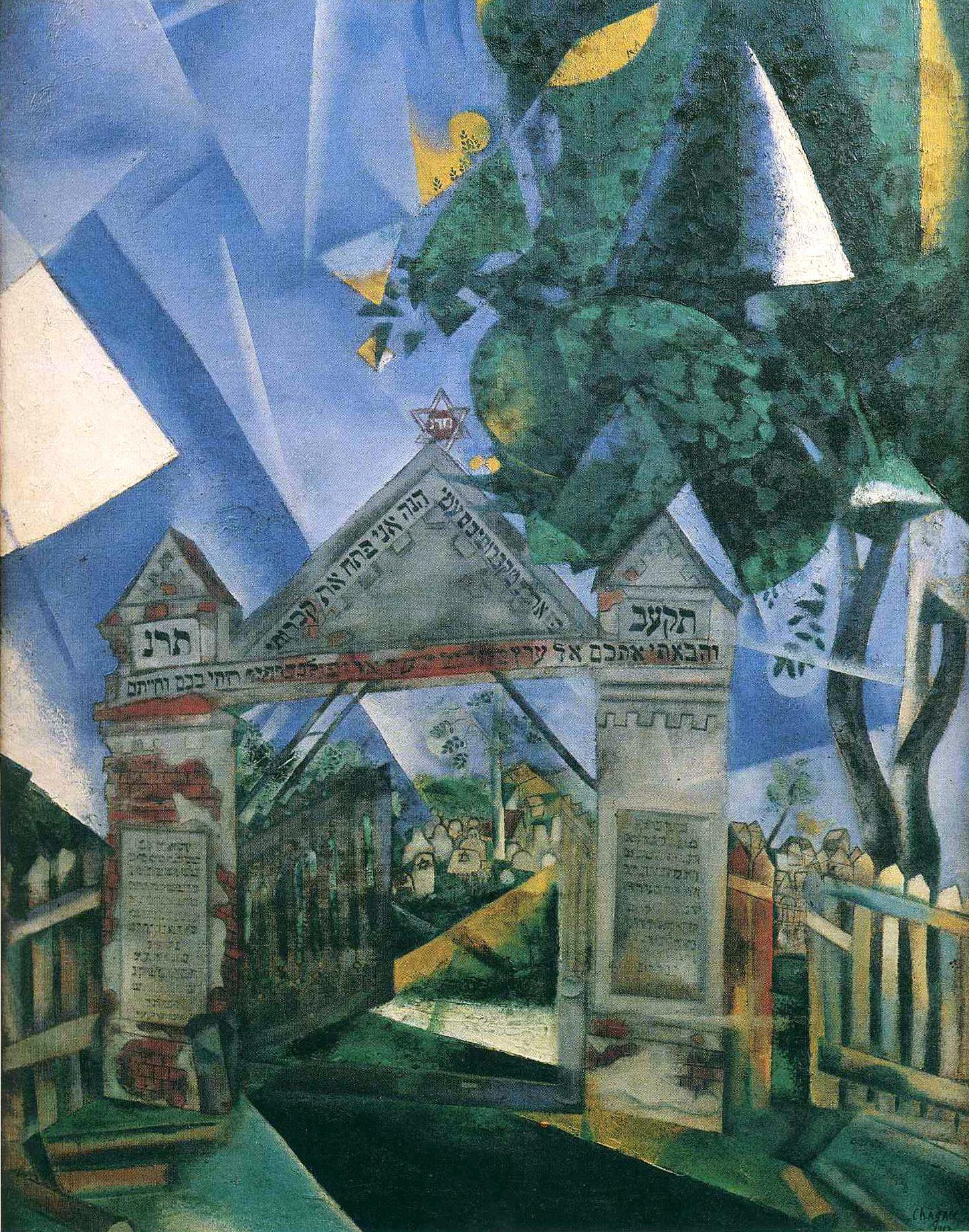 Марк Шагал. Ворота еврейского кладбища.