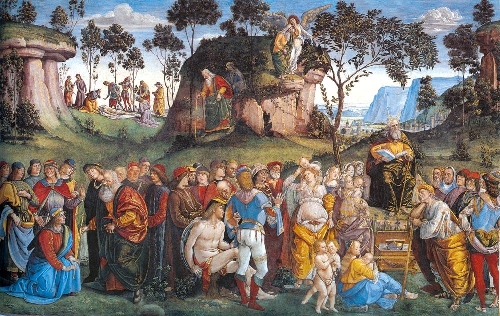 Лука Синьорелли. Завещание и смерть Моисея (фреска), 1481-82