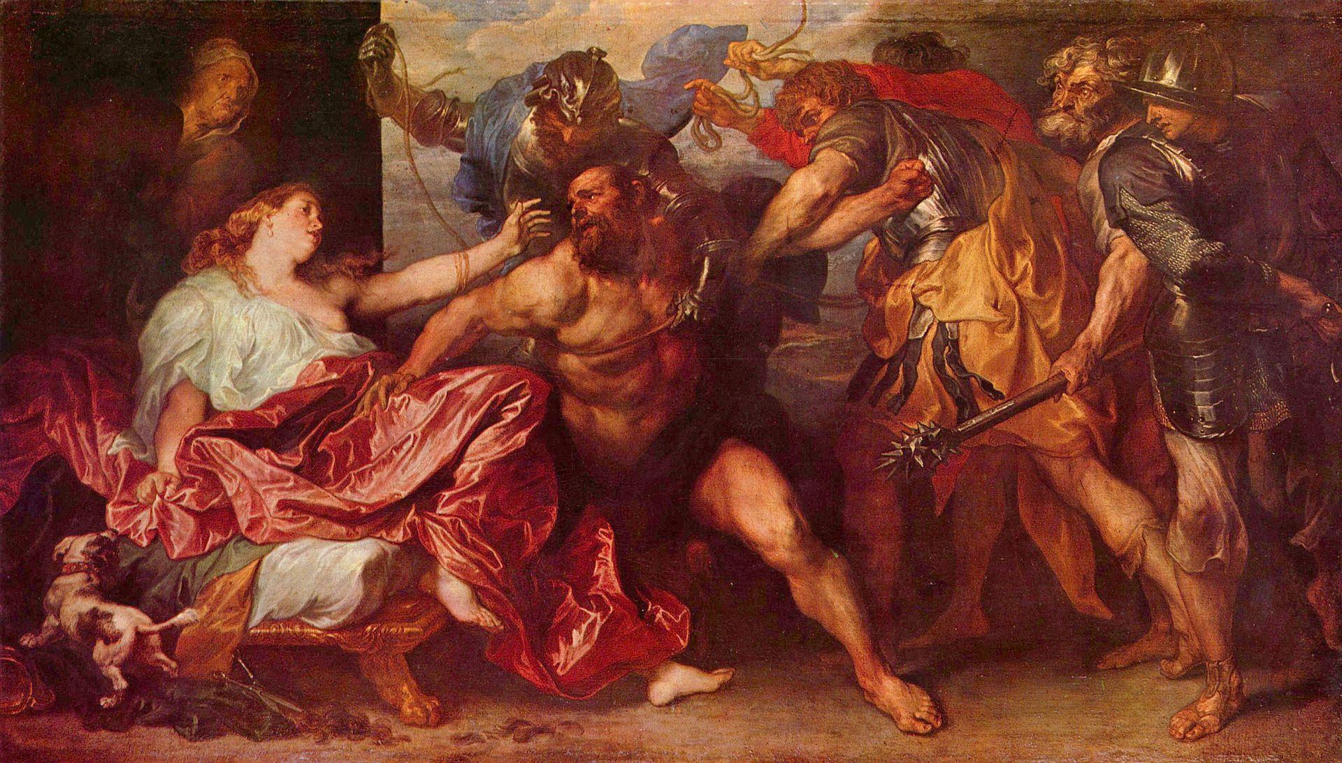 Антонис Ван Дейк. Самсон и Далила (начало 17 века)