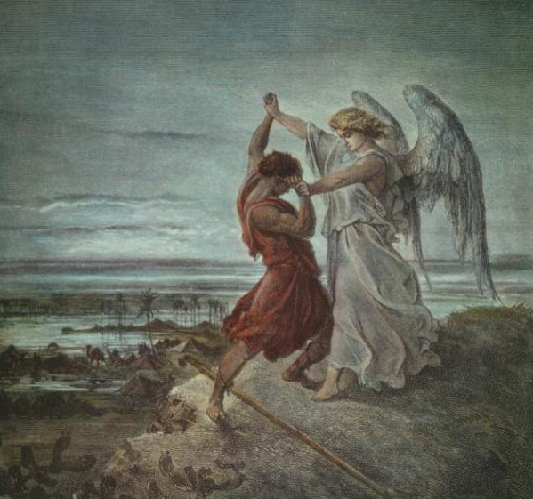 Борьба Якова с ангелом. Гюстав Доре, 1855 г.