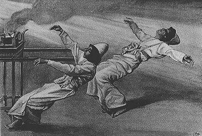Гибель Надава и Авиу. Джеймс Тиссо, XIX в.