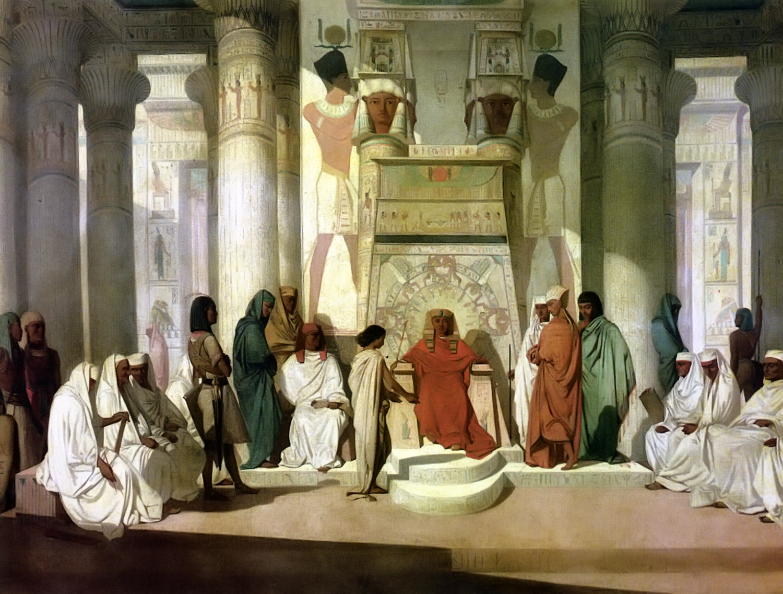 Йосеф толкует сон фараона. Адриан Гинье, XIX в.