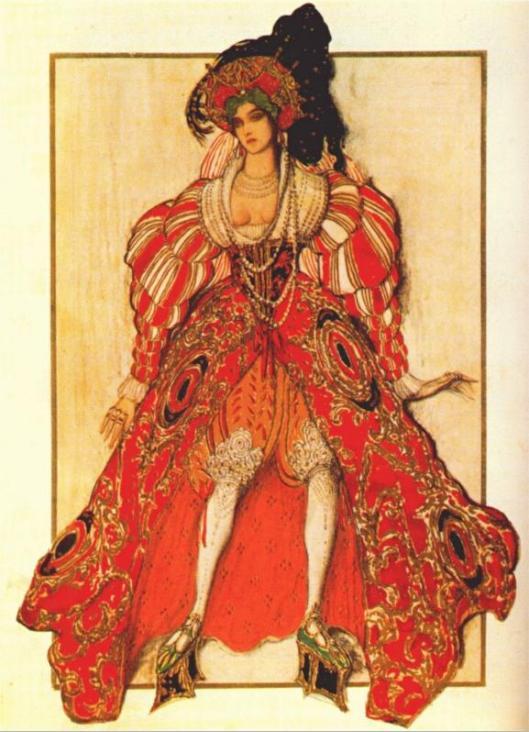 Жена Потифара. Эскиз костюма к балету «Легенда об Иосифе». Леон Бакст, 1914