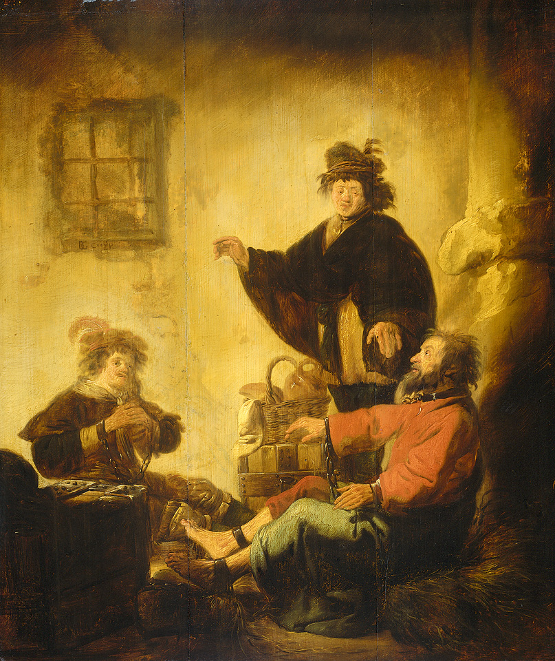 Йосеф толкует сны пекаря и виночерпия. Бенджамин Герритс Кейп, ок. 1630