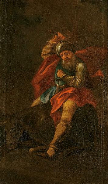 Билеам и его ослица. Анонимный автор, XVII в.