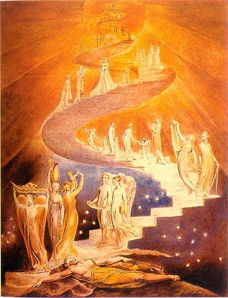Лестница Йаакова. Уильям Блейк, 1800