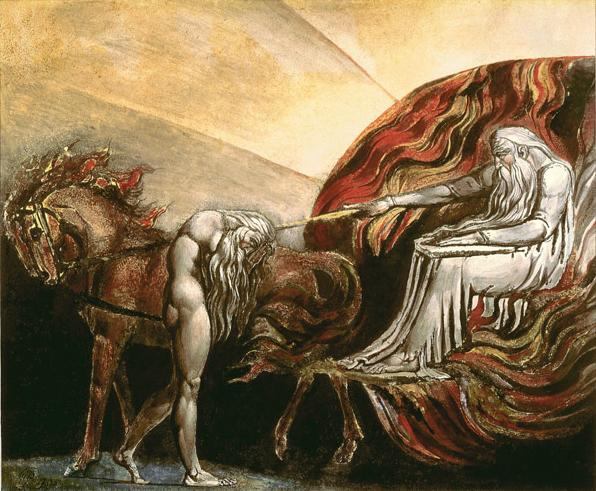 Бог судит Адама. Уильям Блейк, XIX в.