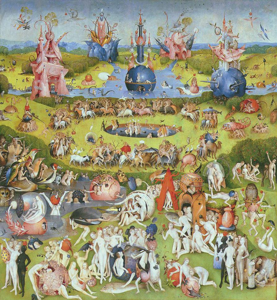 Сад земных наслаждений. Триптих Иеронима Босха (центральная панель), 1500-1510