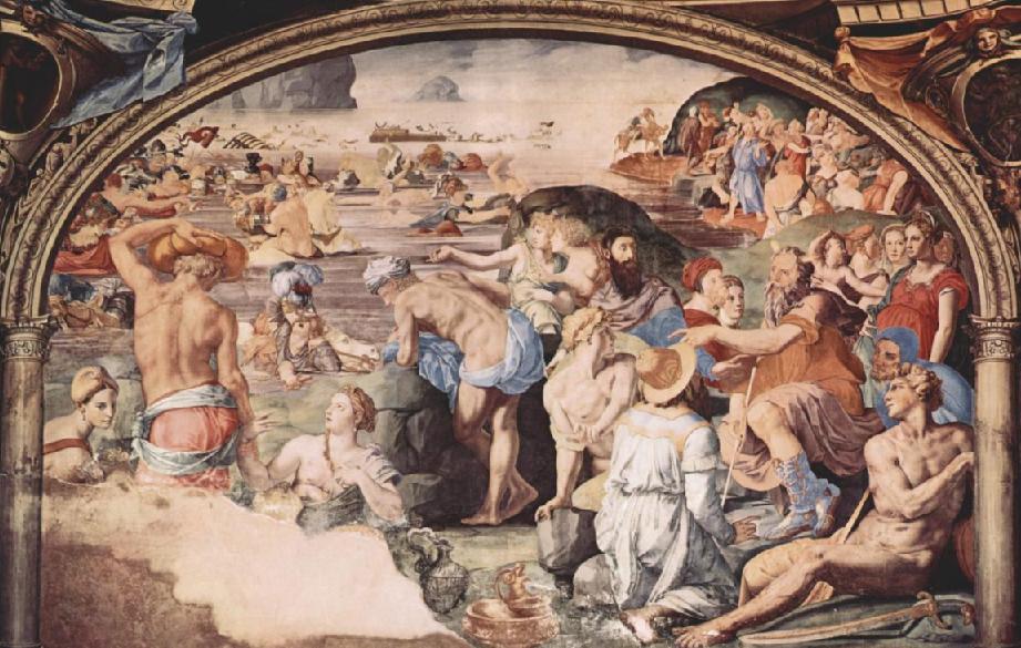 Израильтяне переходят через Красное море. Аньоло Бронзино, 1542
