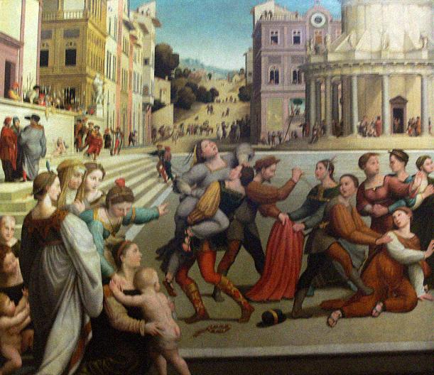 Похищение Дины. Джулиано Буджардини, XVI в.