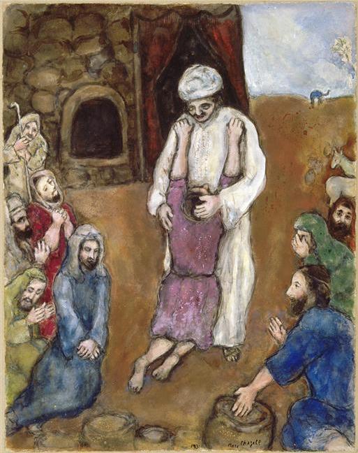 Братья узнают Йосефа. Марк Шагал, 1931