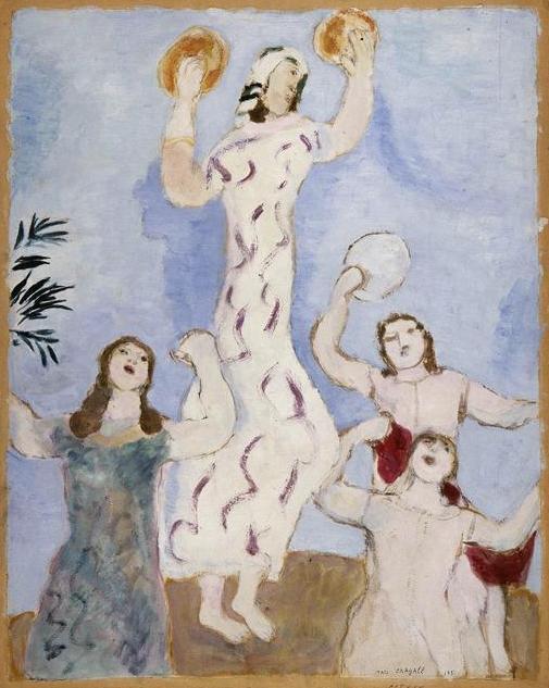Танец Мирьям. Марк Шагал, 1931