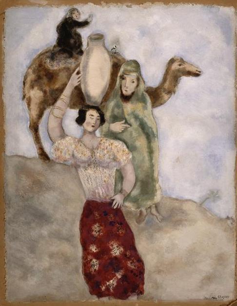 Элиэзер и Ривка. Марк Шагал, 1931
