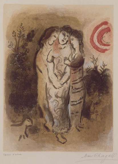 Наоми и ее прекрасные невестки. Марк Шагал, 1960