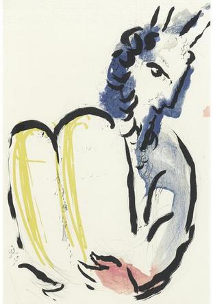 Моше и скрижали Завета. Марк Шагал, 1956
