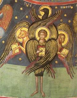 Херувим. Фреска XVI в.