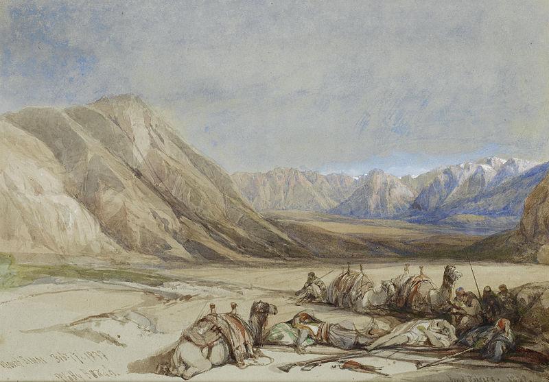 Синайская пустыня. Дэвид Робертс, 1839