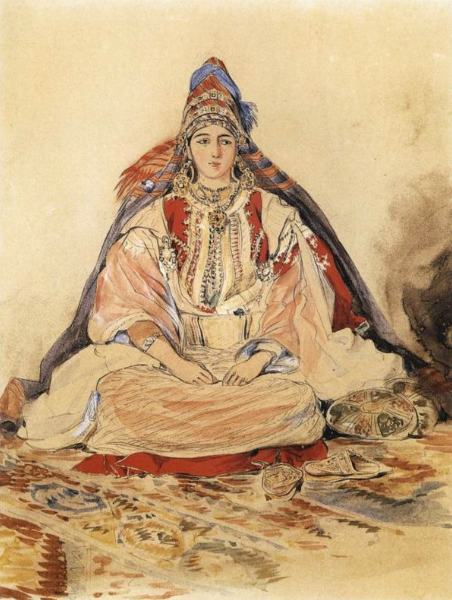 Еврейская невеста. Эжен Делакруа, 1832