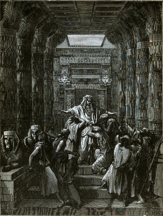 Йосеф открывается братьям. Гравюра Гюстава Доре, 1865