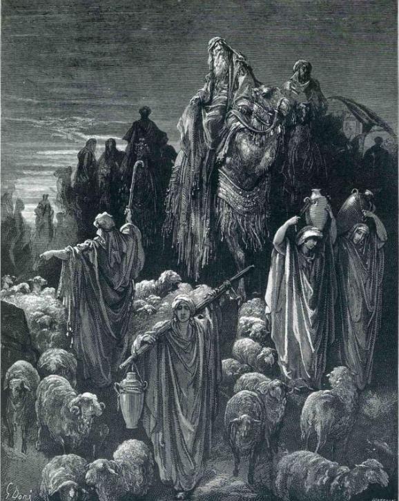 Йааков направляется в Египет. Гюстав Доре, 1866