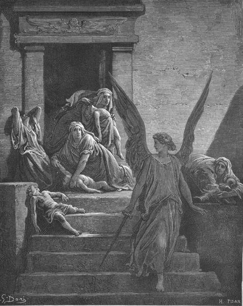 Казнь десятая: смерть первенцев. Гюстав Доре, 1866