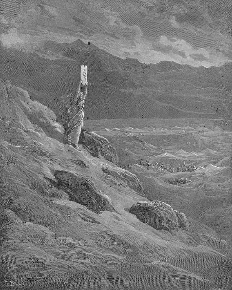 Моше и скрижали Завета. Гюстав Доре, XIX в.