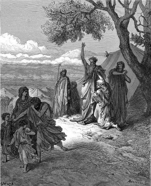 Ноах проклинает Кенаана. Гюстав Доре, 1865