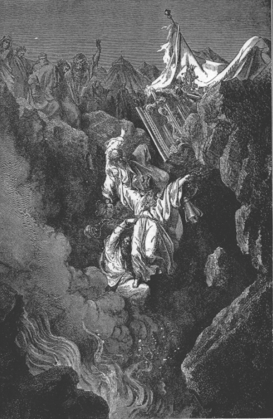 Гибель Кораха, Датана и Авирама. Гюстав Доре, 1865