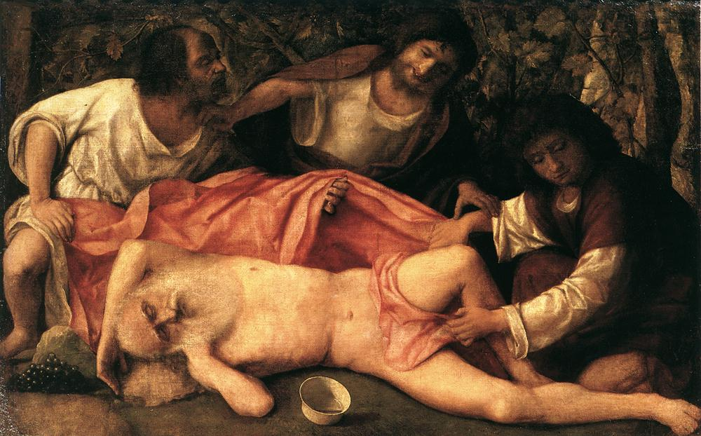 Опьянение Ноаха. Джованни Беллини, 1515