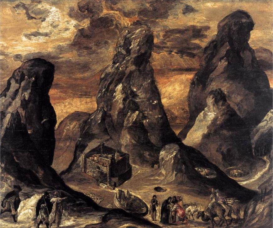 Гора Синай. Эль Греко, 1570