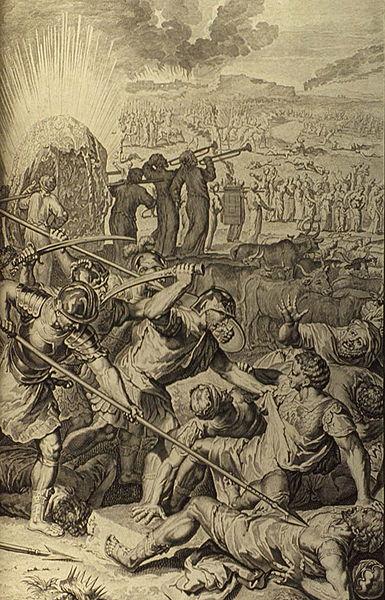 Израильтяне убивают пятерых мидьянских царей. Герард Хоет, 1728