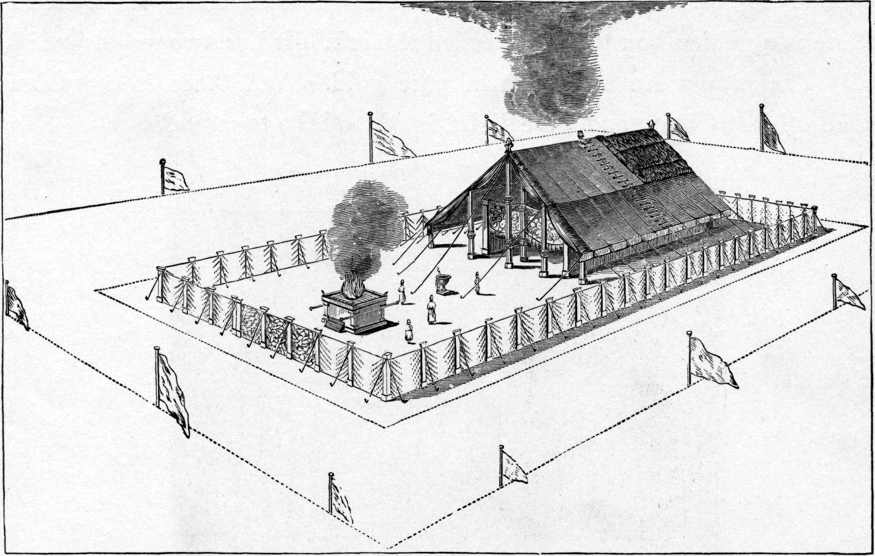 Скиния Завета. Иллюстрация к изданию Библии Чарльза Фостера, 1897
