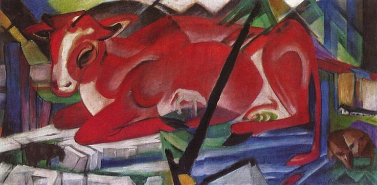 Рыжая корова. Франц Марк, 1913