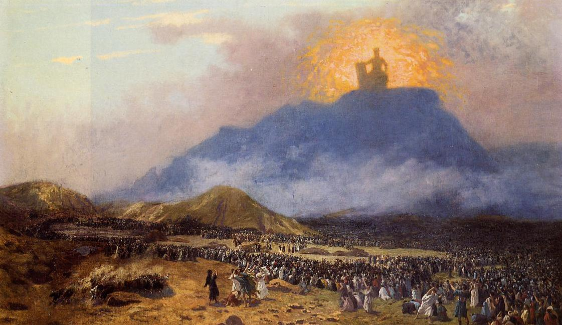 Моше на горе Синай. Жан-Леон Жером, 1895-1900