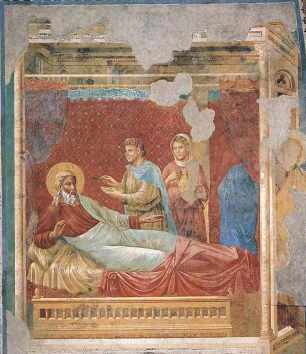 Йицхак отвергает Эсава. Фреска Джотто, XIII в.
