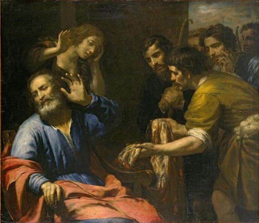 Йаакову показывают окровавленную одежду Йосефа. Джованни Андреа де Феррари, 1640
