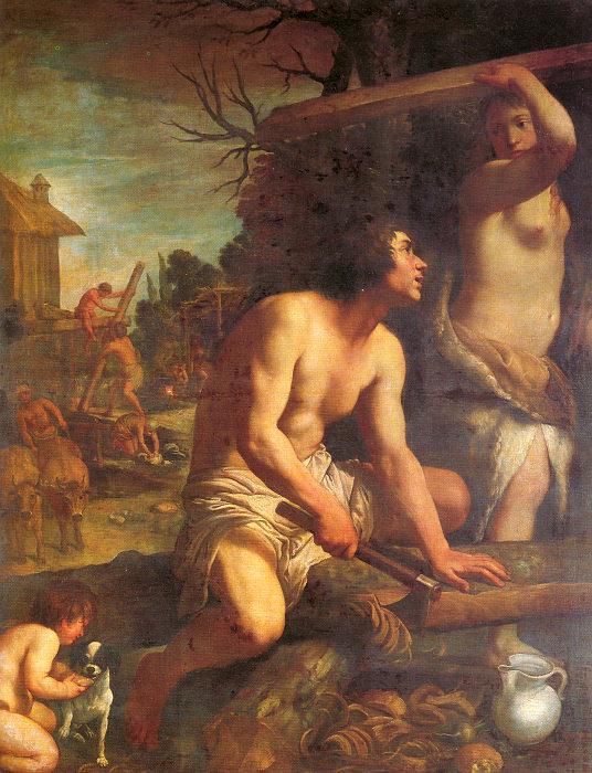 Постройка Ноева ковчега. Гвидо Рени, ок. 1608