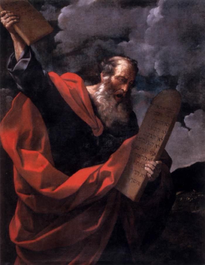 Моше со скрижалями Завета. Гвидо Рени, 1624