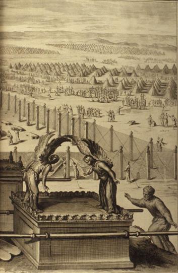 Ковчег Завета в стане израильтян. Иллюстрация Герарда Хоета, 1728