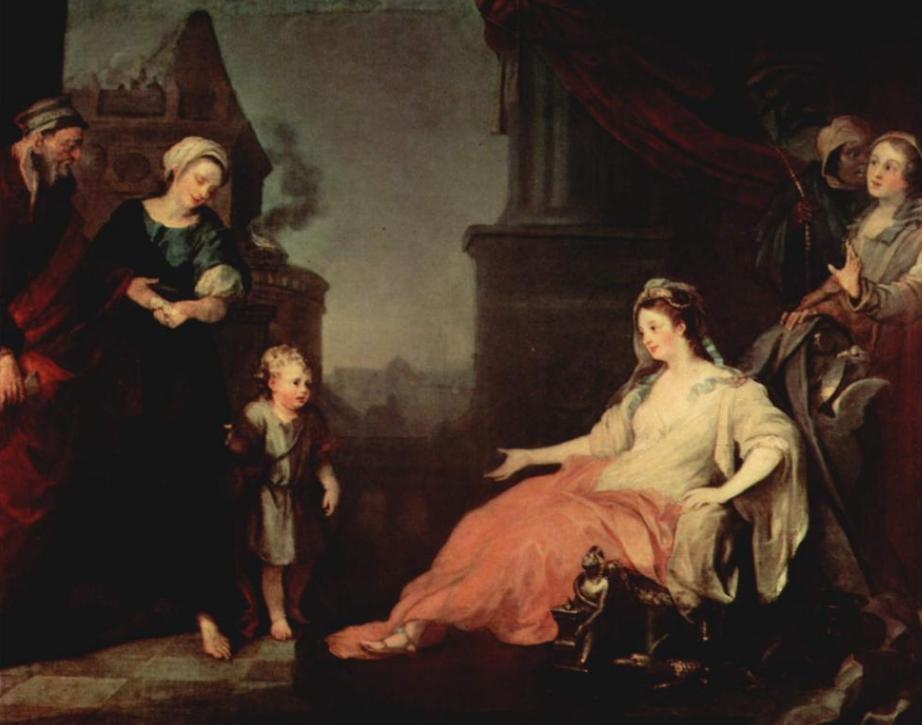 Моше перед дочерью фараона. Уильям Хогарт, 1746