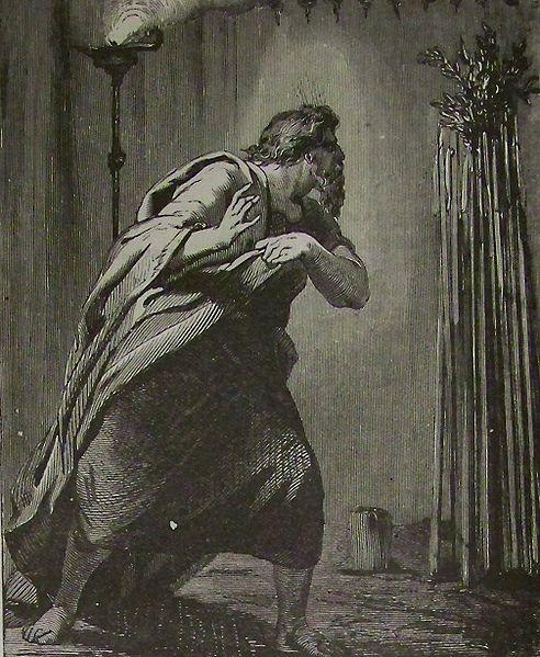 Жезл Аарона покрылся цветами. Иллюстрация к Библии Холмана, 1890