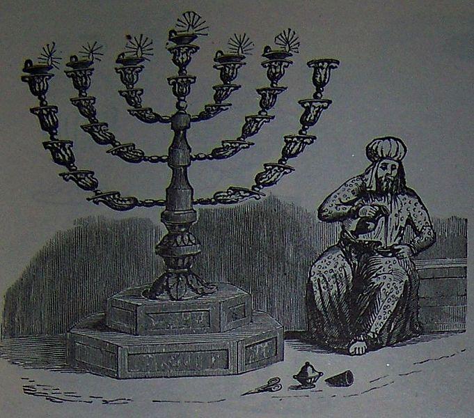 Золотой светильник. Иллюстрация к изданию Библии, 1890