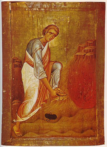 Моисей перед неопалимой купиной. Икона XII в.