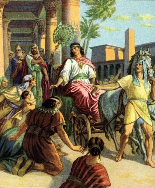 Йосеф стал визирем Египта. Иллюстрация к изданию Библии, нач. 1900-х гг.