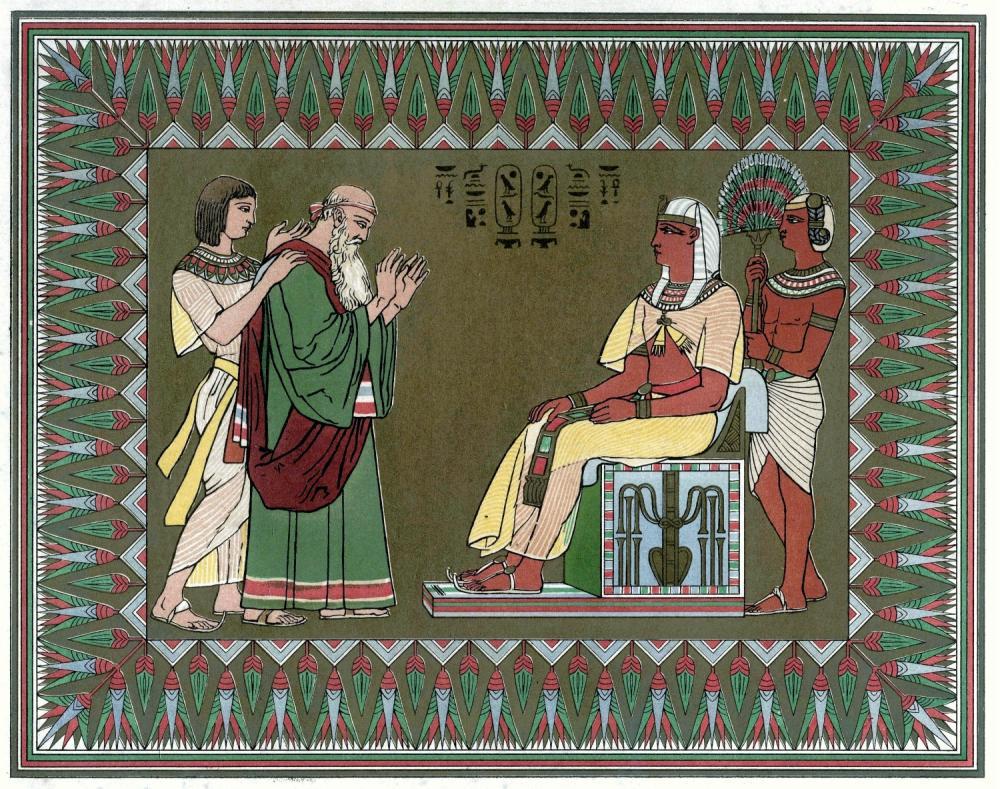 Йааков благословляет фараона. Миниатюра Оуэна Джонса, 1869