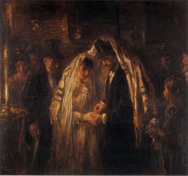 Еврейская свадьба. Йозеф Израэльс, 1903